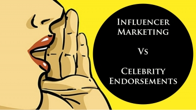 Difference between Celebrity Endorsement & Influencer Marketing